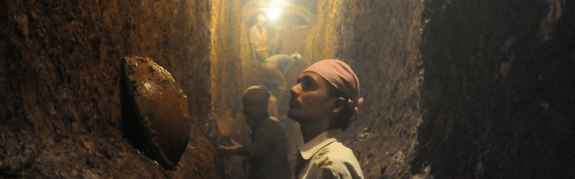 Workers labouring to rejuvenate the karez